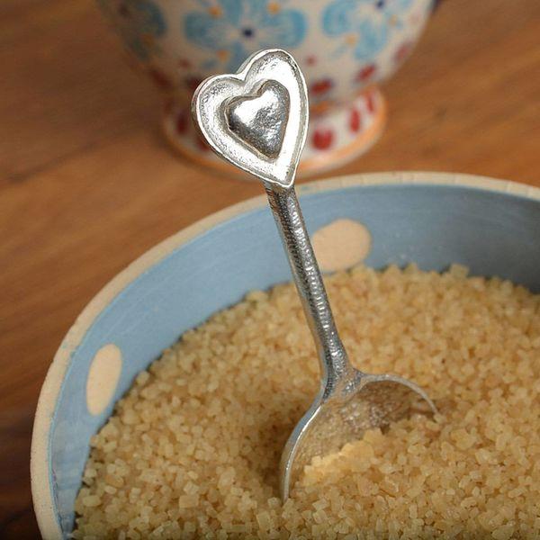 Corazón pequeña cuchara de azúcar