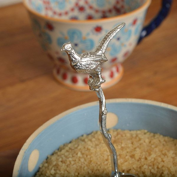 Pheasant Small Sugar Spoon