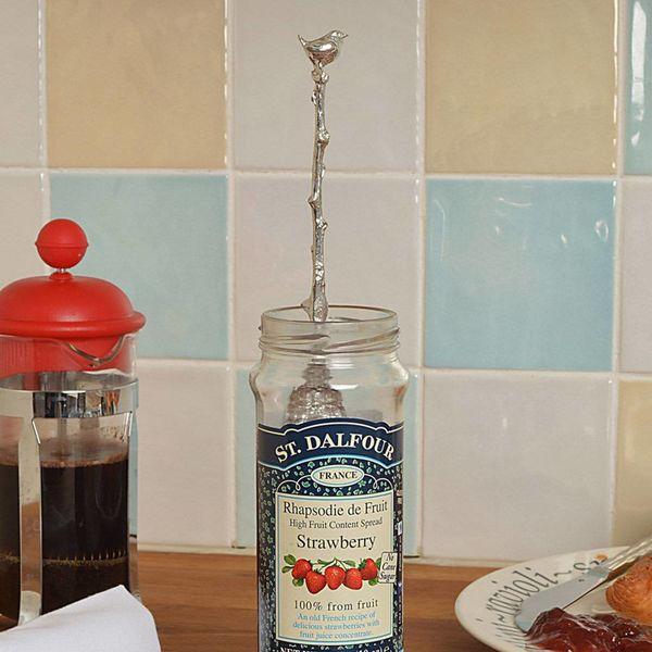 Bird Wren Long Jar Spoon