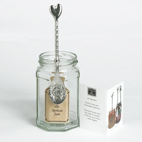 Glover and Smith Heart Long Jar Spoon
