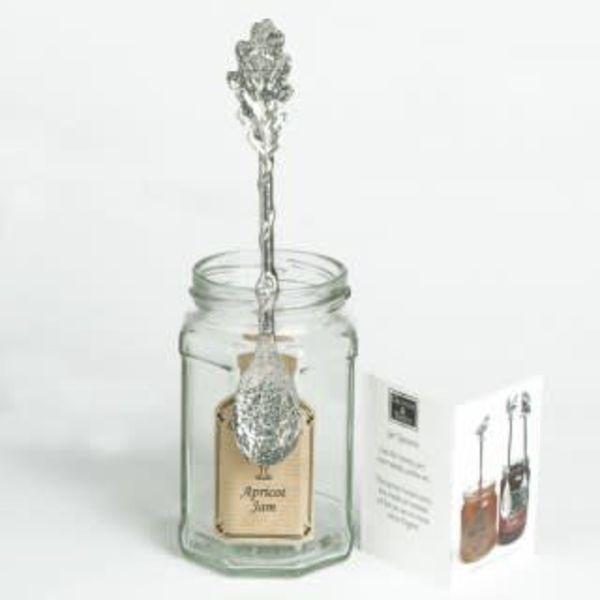 Oak Leaf Long Jar Spoon