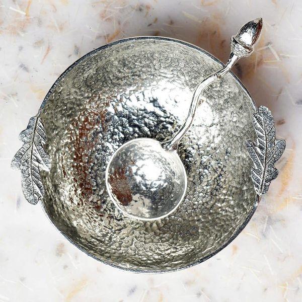 Oak Leaf Bowl with Acorn Spoon