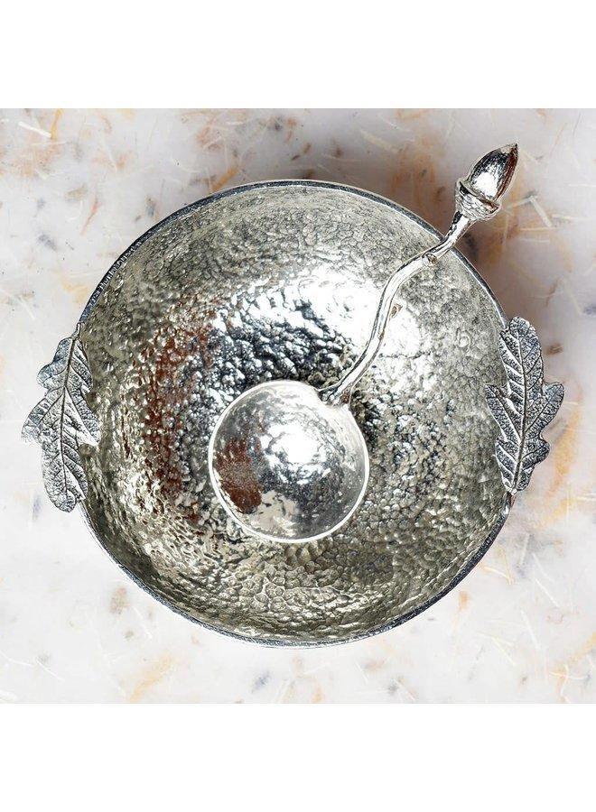 Eichenblatt-Schüssel mit Eichel-Löffel