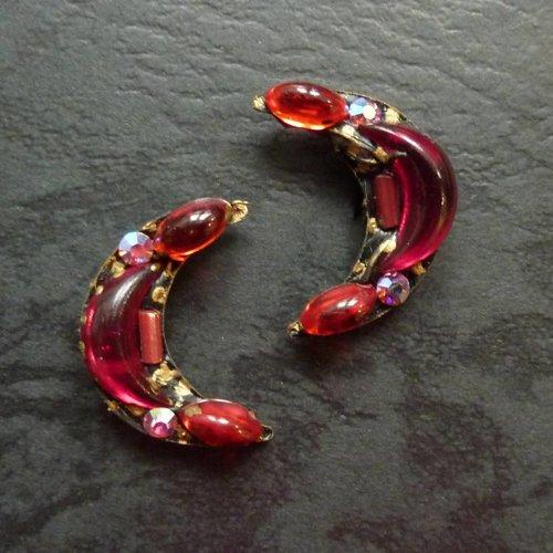 Annie Sherburne Copy of Vintage  turquoise  Stud earrings crystal assemblage