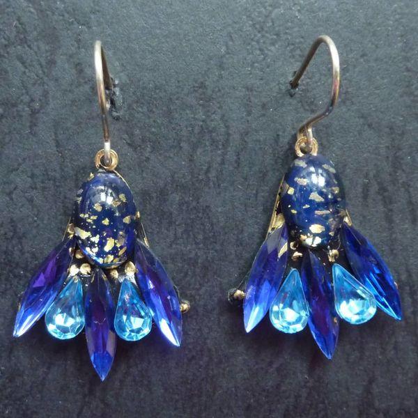 Copy of Vintage  pink  Stud earrings crystal assemblage