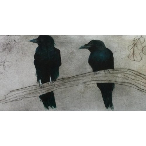 West Yorkshire Print Workshop Crows on a Branch