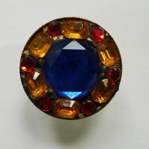 Annie Sherburne Vintage Multi round ring crystal assemblage