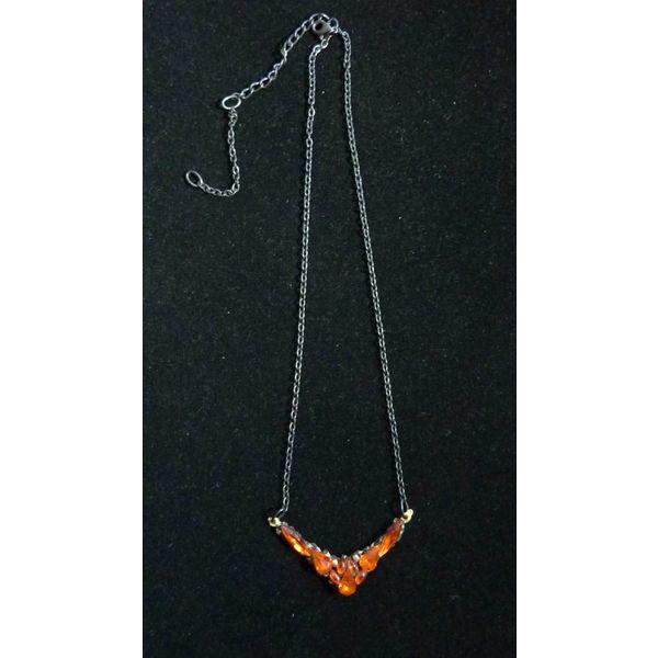 Vintage Orange Necklace crystal assemblage