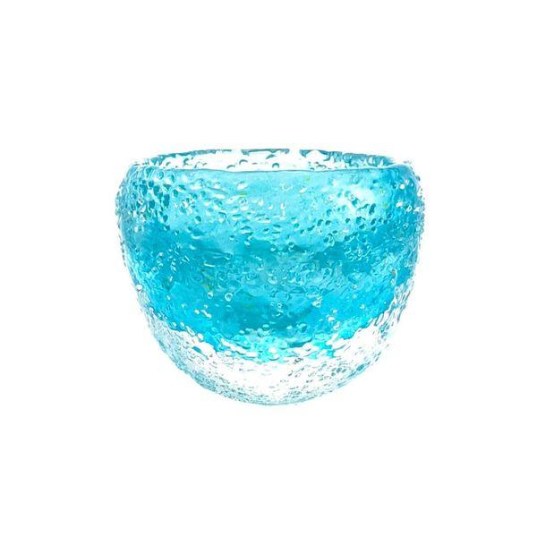 Recipiente de vidrio con textura