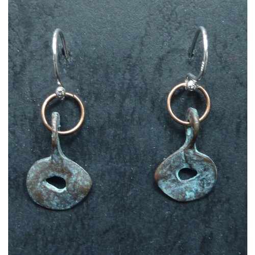 Melissa James Copy of Coral Disc Earrings