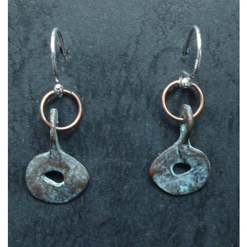 Melissa James Verdigris Copper Earrings