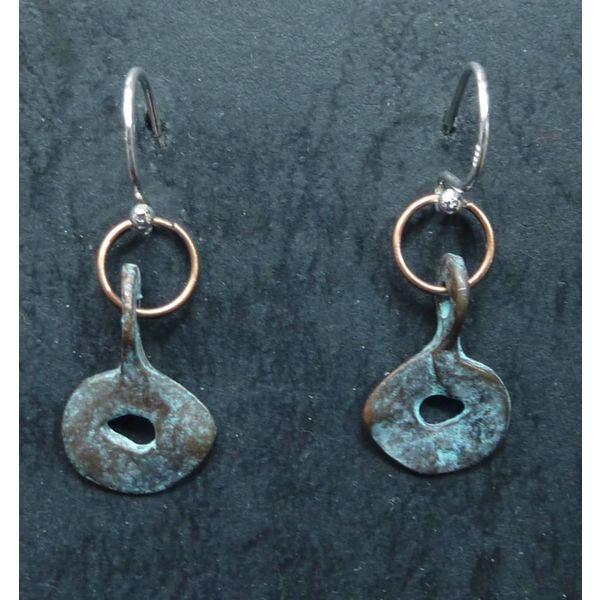 Verdigris Copper Earrings