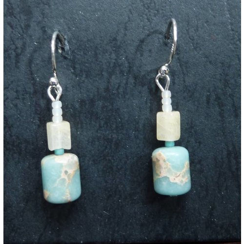 Melissa James Turquoise Drop  Earrings
