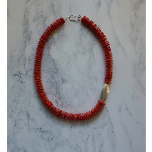 Melissa James Coral Disc and Pod Necklace