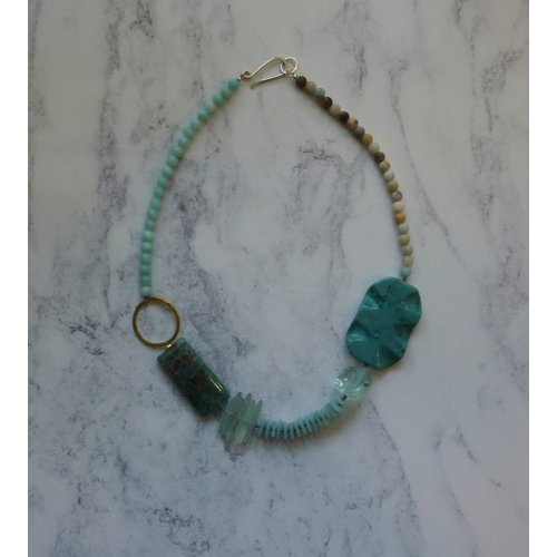 Melissa James Large Turquoise and Multistone Necklace