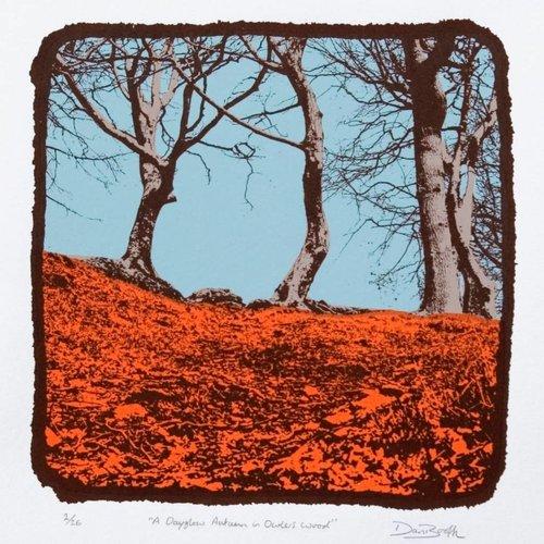 West Yorkshire Print Workshop Un otoño Dayglow en Owlers Wood Ed. 26