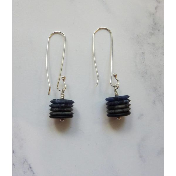 long drop earrings onyx, jasper & sodalite