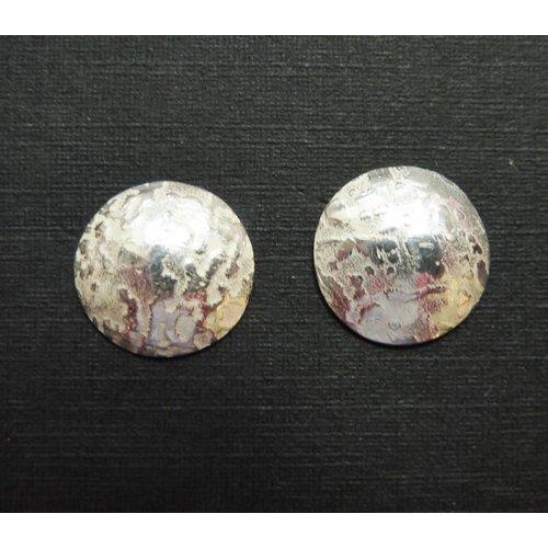 Angela Learoyd Small silver domed stud earrings
