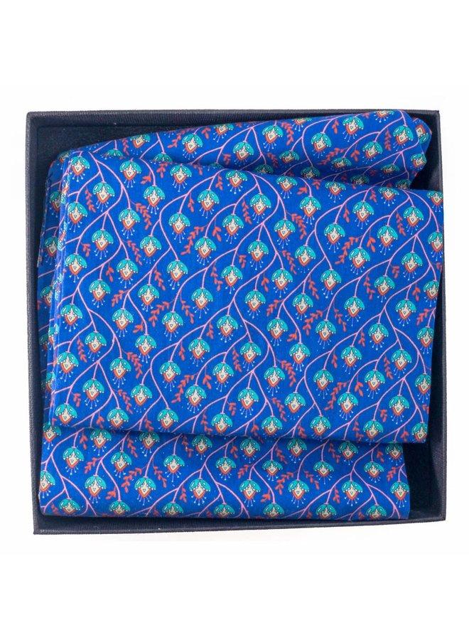 Lila Rebe Liberty Cotton Scarf Boxed