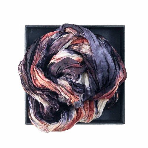 Lady Crow Silks Tortoiseshell Crinkle Silk Scarf