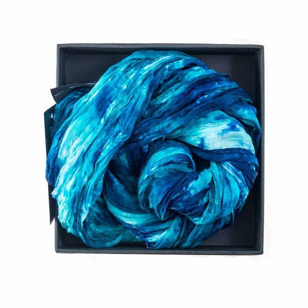 Ocean Crinkle Silk Scarf