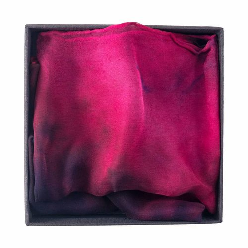 Lady Crow Silks Chilli Gossamer Silk Scarf  40x145cm