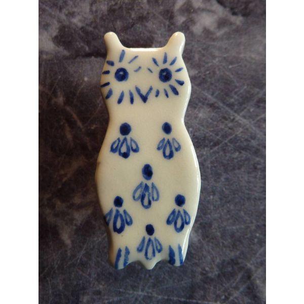 Mini ceramic owl brooch 005