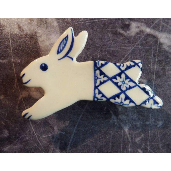 Hare Keramik Brosche 012