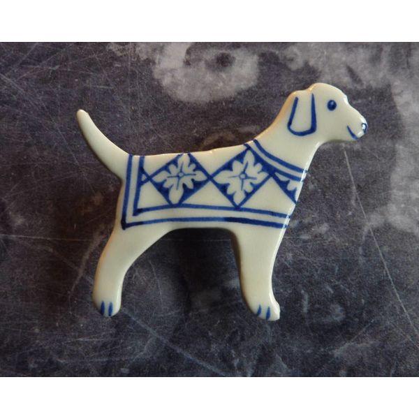 Retriever Keramik Brosche