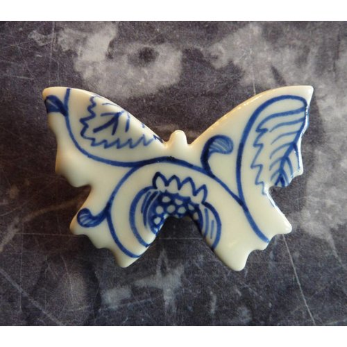 Pretender To The Throne Butterfly ceramic brooch 020