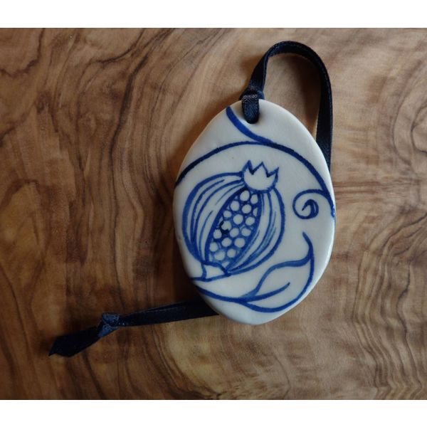 Ovale Keramik Dekoration Sml.