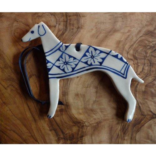 Pretender To The Throne Decoración de cerámica Greyhound