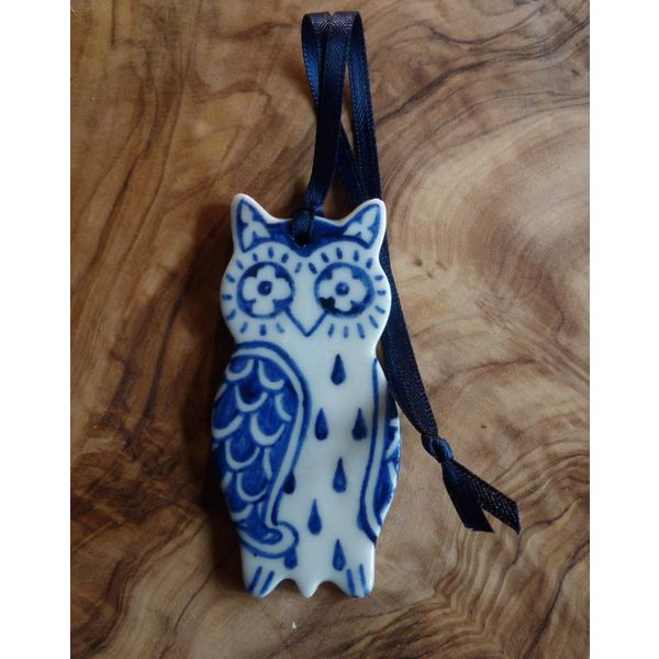Eulen-Keramik-Dekoration