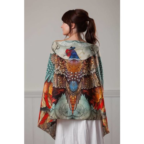 Sandy Gardner Pheasant Phoenix wearable art wrap