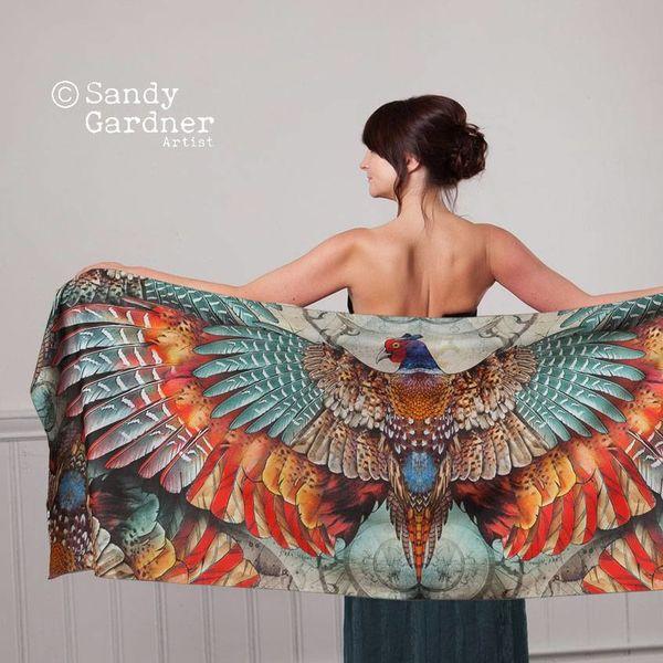 Envoltura de faux Phoenix wearable art