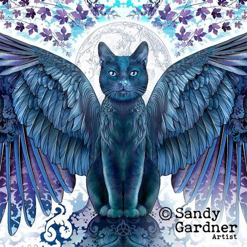Sandy Gardner Tragbarer Kunstwickel der Nachtkatze