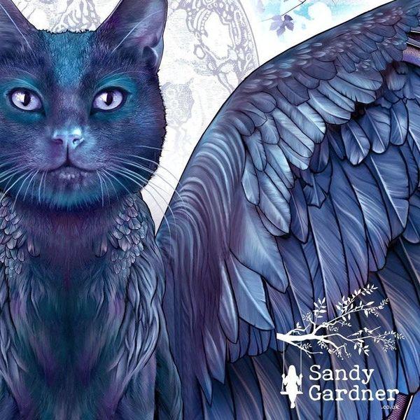 Night Cat wearable art wrap