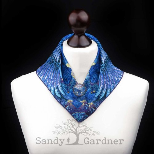Sandy Gardner Raven Roulette Neck Scarf
