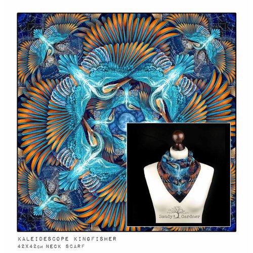 Sandy Gardner Kaleidoskop Kingfisher Halstuch