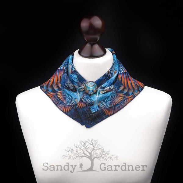 Kaleidoscope Kingfisher Neck Scarf