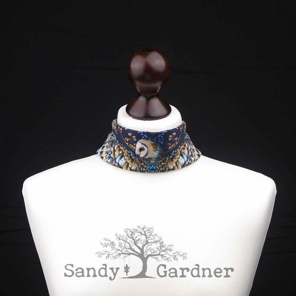 Bufanda de cuello búho óptico