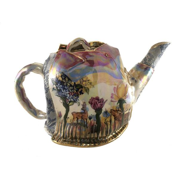 Secret Garden Lustre Tea Pot unique