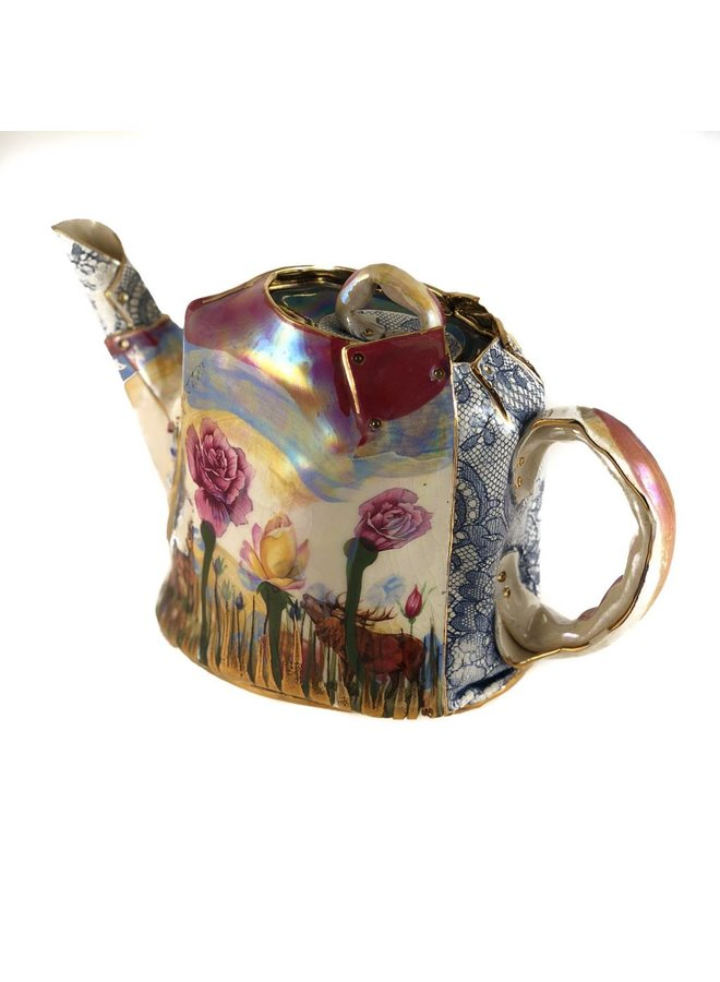 Secret Garden Lustre Teetopf einzigartig