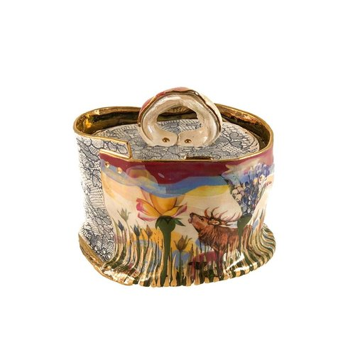 Vanessa Conyers Lustre Secret Garden Lustre lidded Sugar bowl