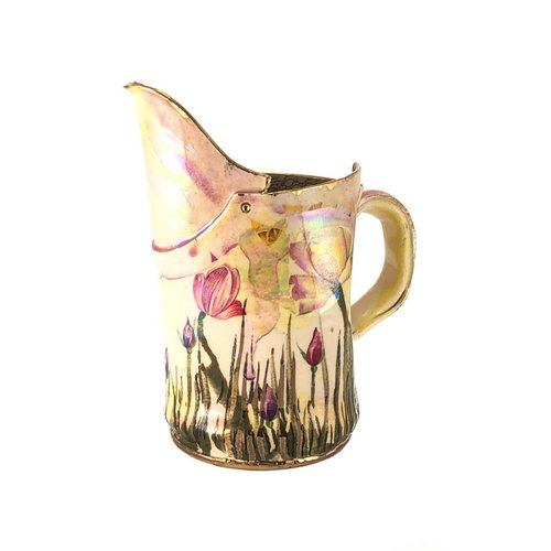 Vanessa Conyers Lustre Copy of Magic Weather white rose Lustre jug