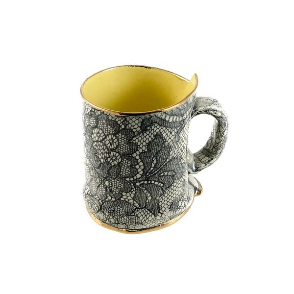 Lace yellow  Lustre cup