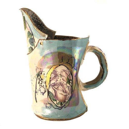 Vanessa Conyers Lustre Magic Weather white rose Lustre jug