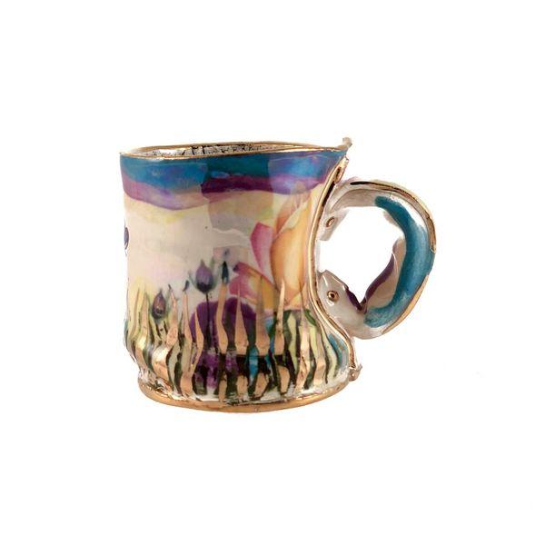 Secret Garden Blue rim  Lustre cup