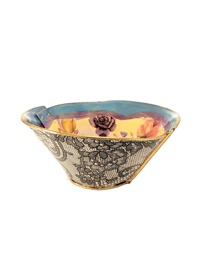Copy of Butterfly and Rose Lustre bowl