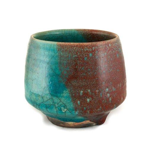 Judy Caplin Chawan Tea Bowl Raku 1